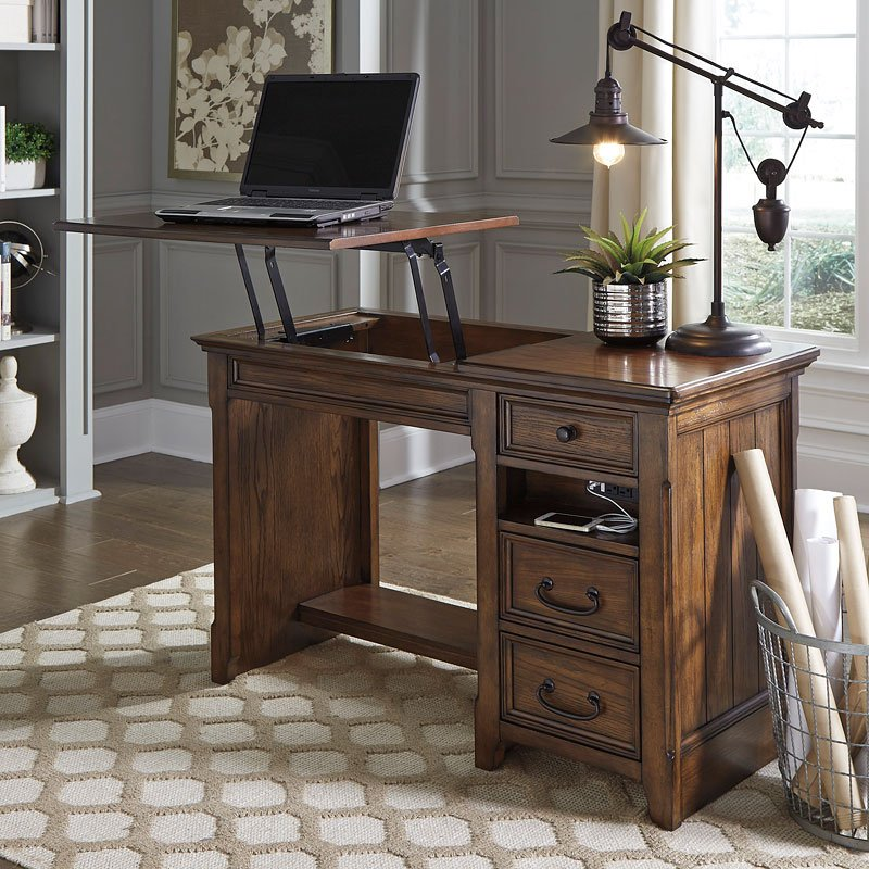 Woodboro Home Office Lift Top Desk By Signature Design By