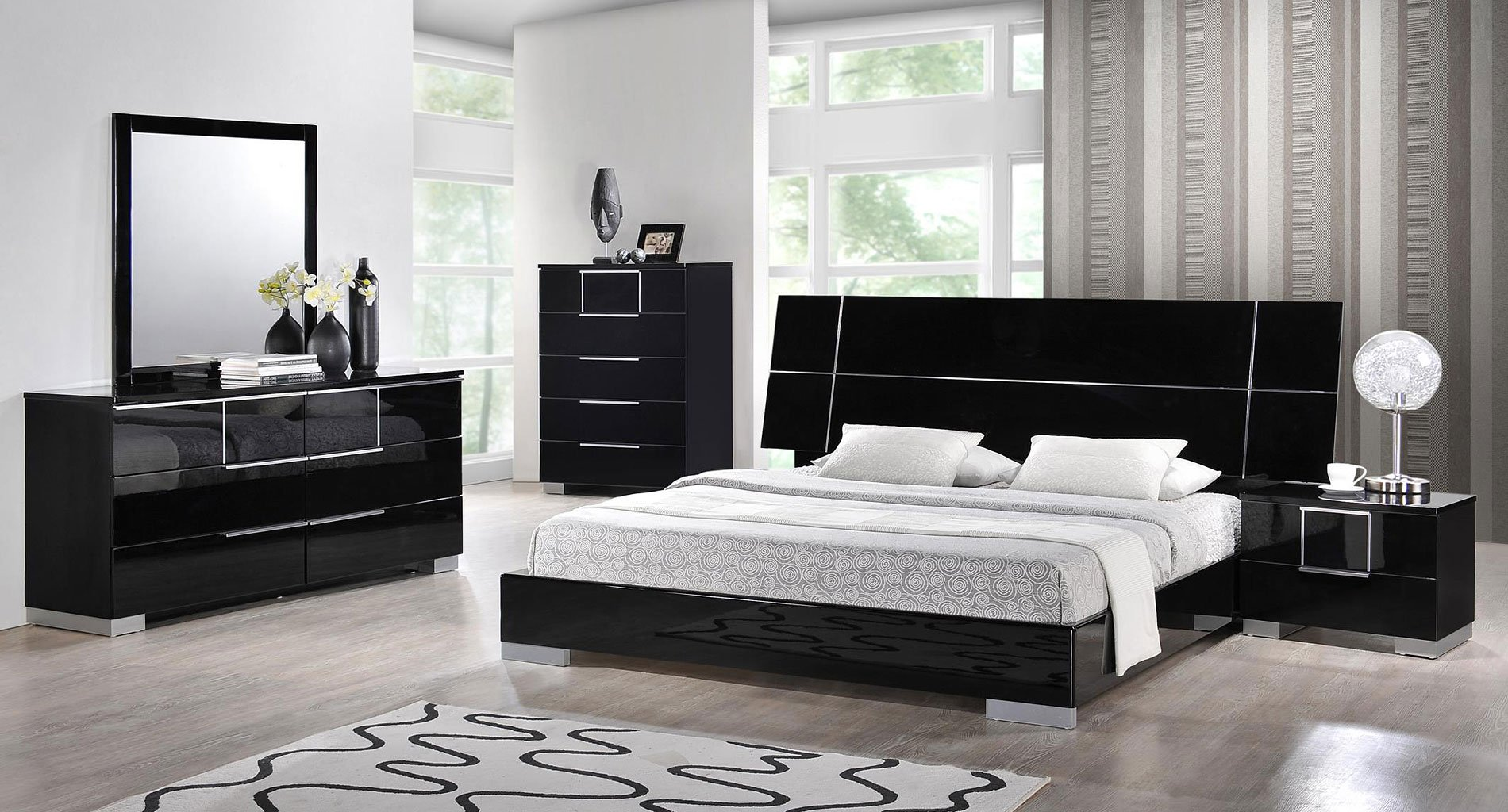 Hailey Low Profile Bedroom Set By Global Furniture