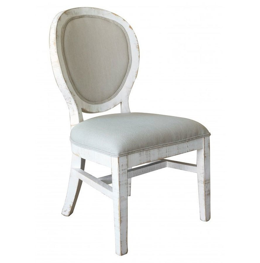 Pueblo Antique White Side Chair Set Of 2 By Ifd