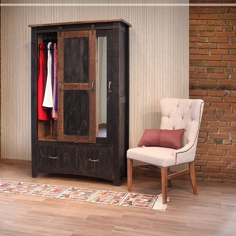 Pueblo Armoire Black By Ifd Furniture Furniturepick