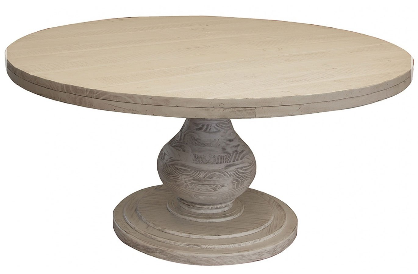 Bonanza Round Dining Table Off White By Ifd Furniture