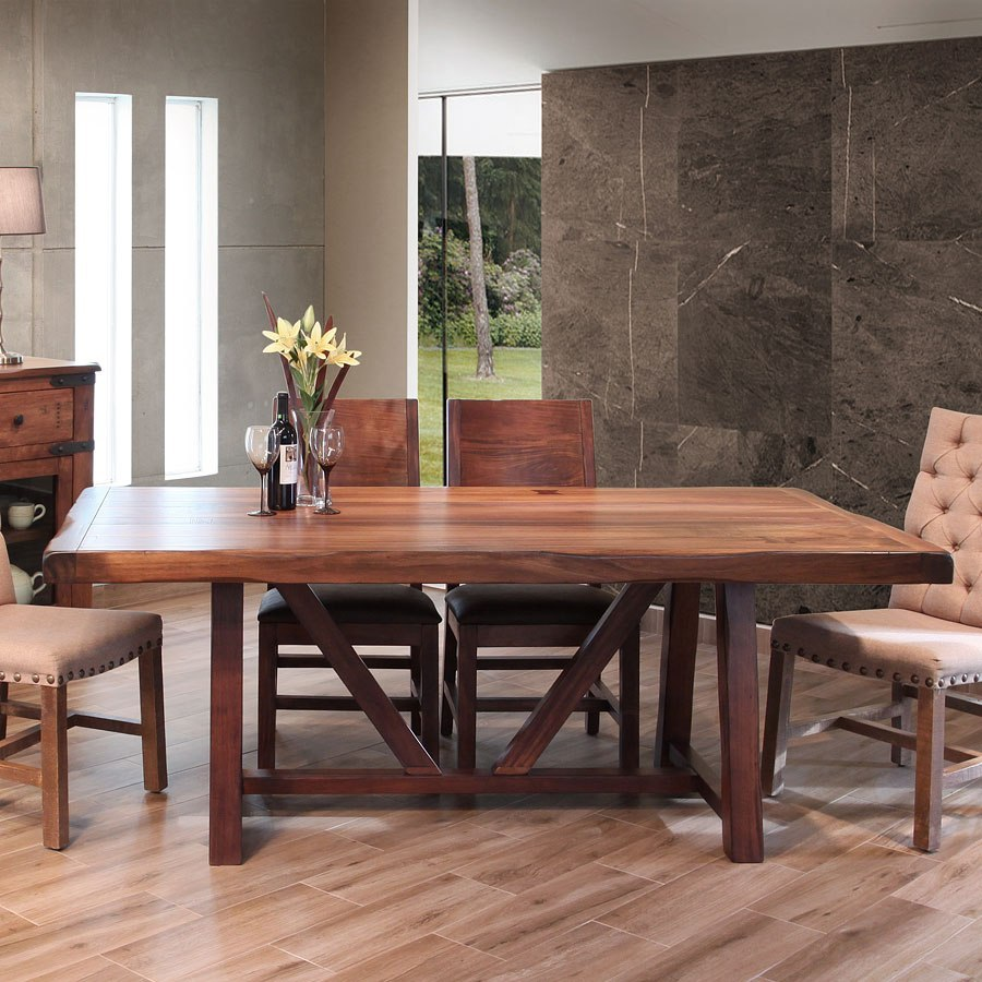 Parota 3 Inch Wide Top Dining Table By Ifd Furniture Furniturepick
