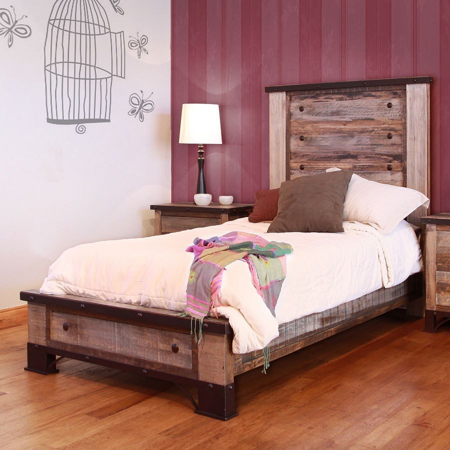 Antique Youth Panel Bedroom Set By Ifd Furniture Furniturepick