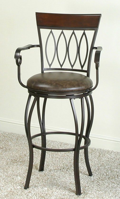 Monza 30 Inch Diamond Back Barstool W Arms By Cramco Furniturepick