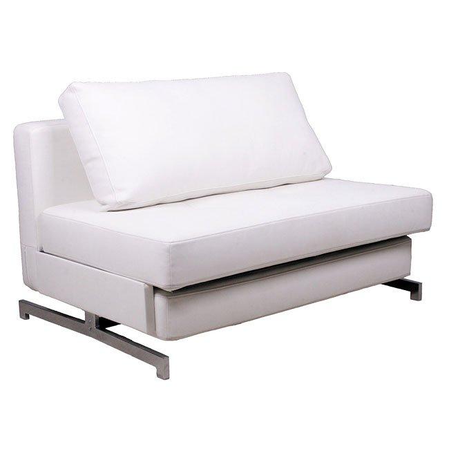 Miraculous K43 1 White Convertible Sofa Bed Inzonedesignstudio Interior Chair Design Inzonedesignstudiocom