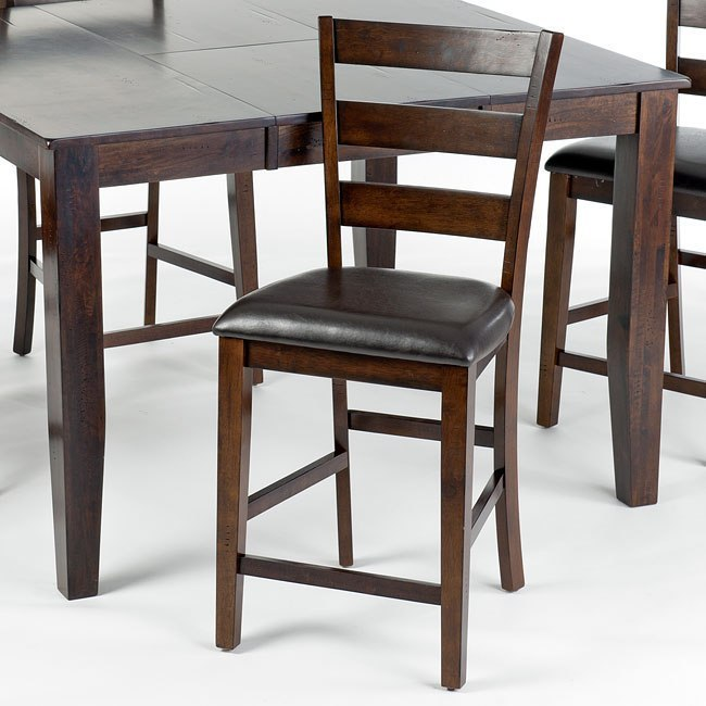 Kona Counter Height Dining Set W Ladder Back Chairs By