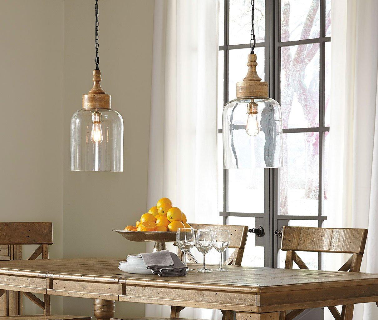 Faiz Glass Pendant Light Transparent By Signature Design