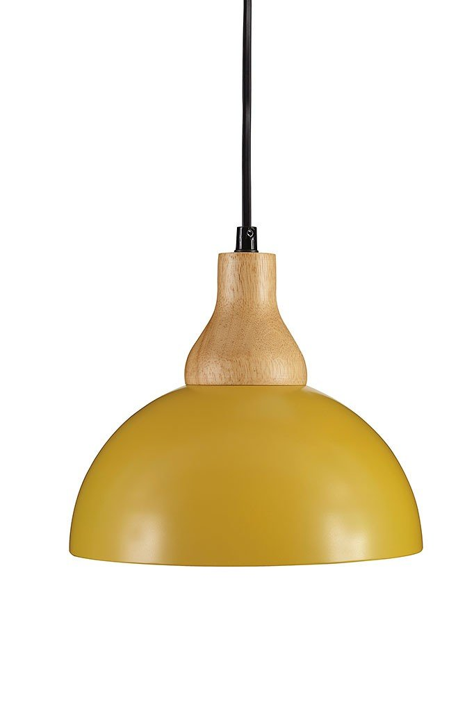 Idania Metal Pendant Light Yellow By Signature Design By