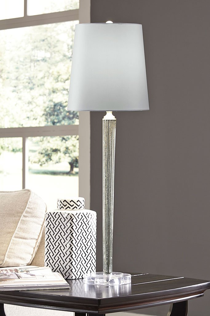 Ardara Glass Table Lamp Mercury Glass By Signature