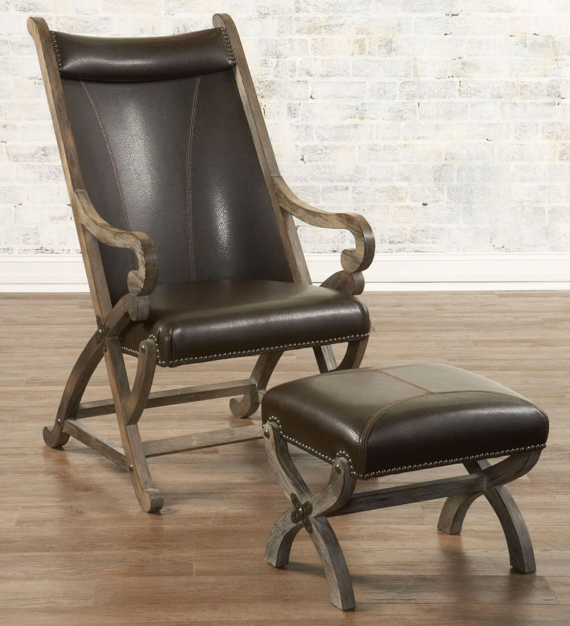 Hunter Chair W Ottoman Brown By Largo Furniture