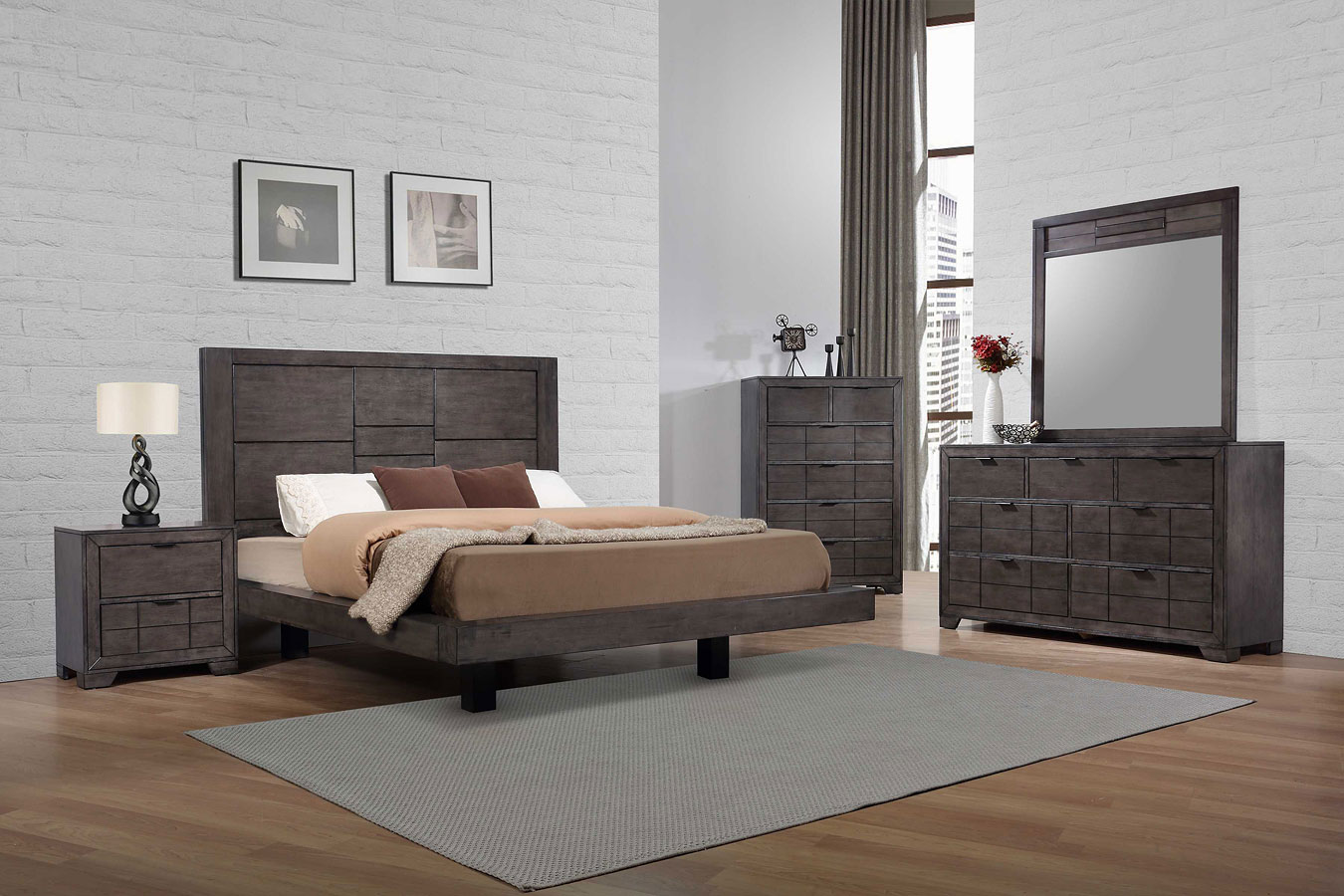 Logic Platform Bedroom Set By Elements Furniture Furniturepick