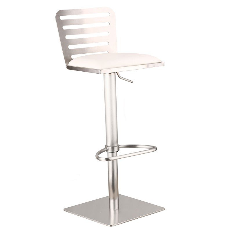 Delmar Adjustable Barstool White Barstools Home Bar And Game Room Furniture Home Bar