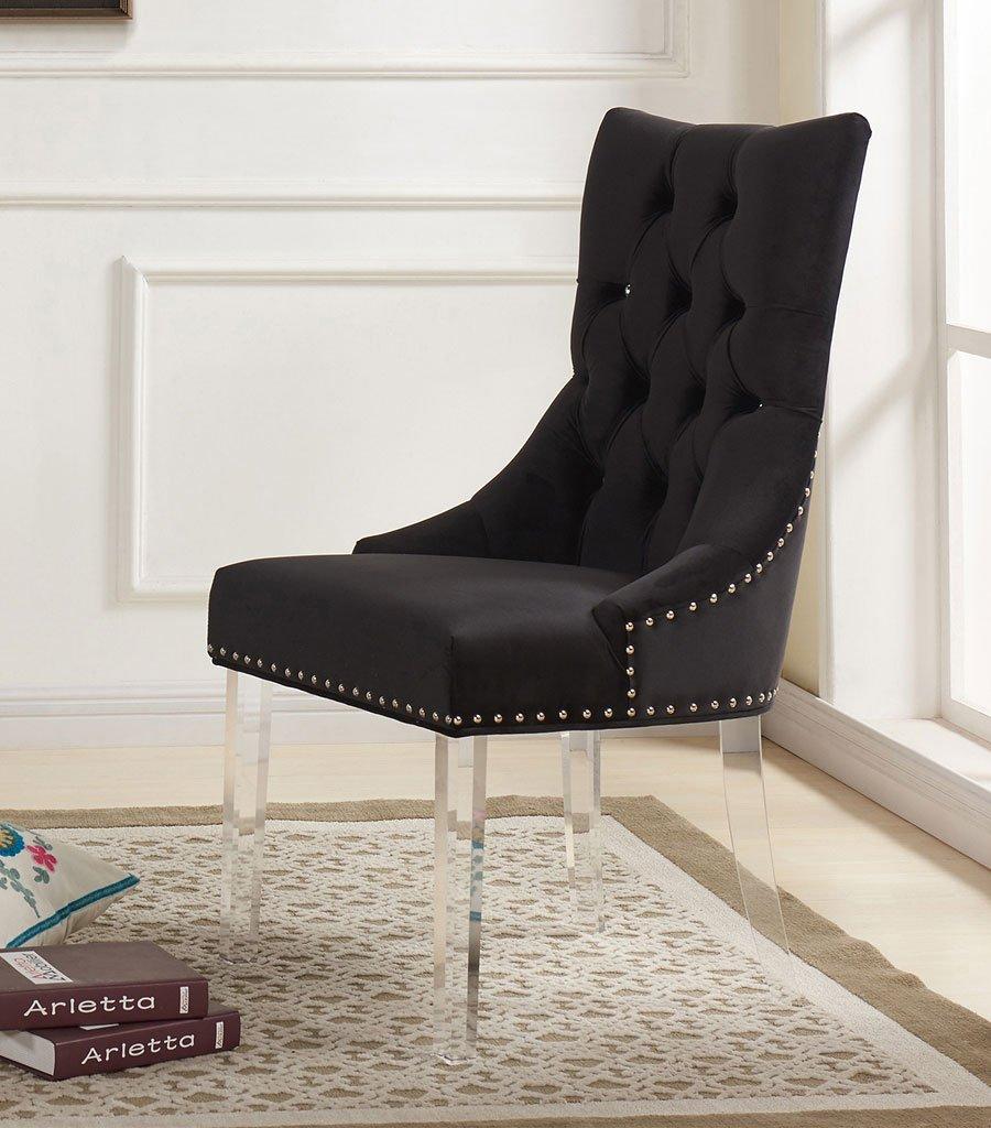 0eba12a6aef Gobi Black Velvet Side Chair by Armen Living