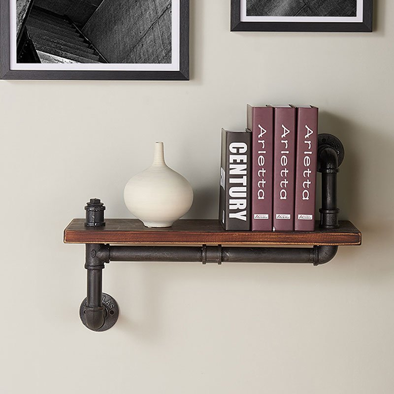 montana 24 inch floating wall shelf storage and. Black Bedroom Furniture Sets. Home Design Ideas