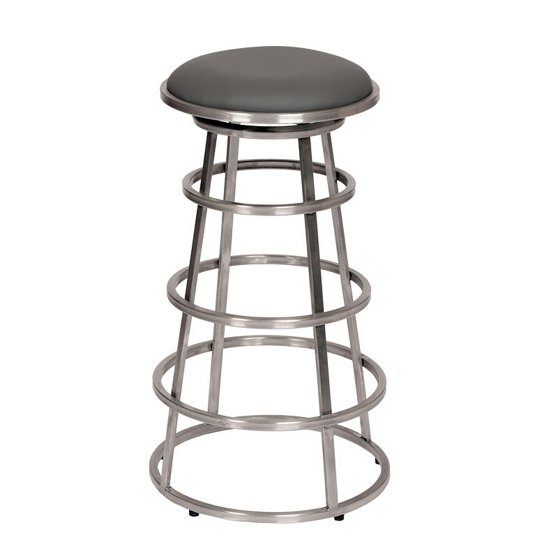 Fantastic Ringo Counter Height Stainless Steel Barstool Gray Gmtry Best Dining Table And Chair Ideas Images Gmtryco