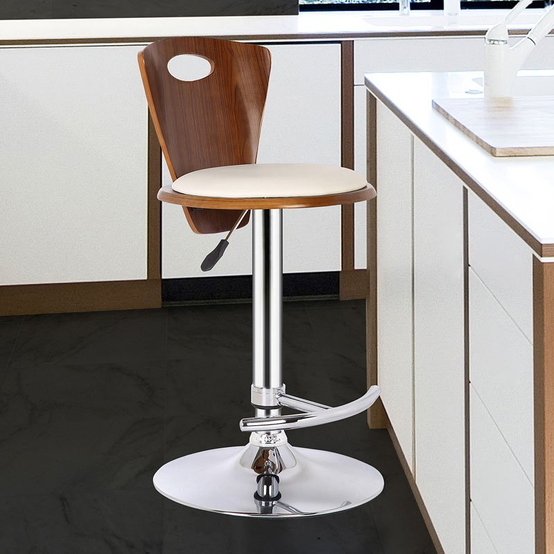 Seattle barstool cream barstools home bar and game room furniture home bar Home bar furniture seattle