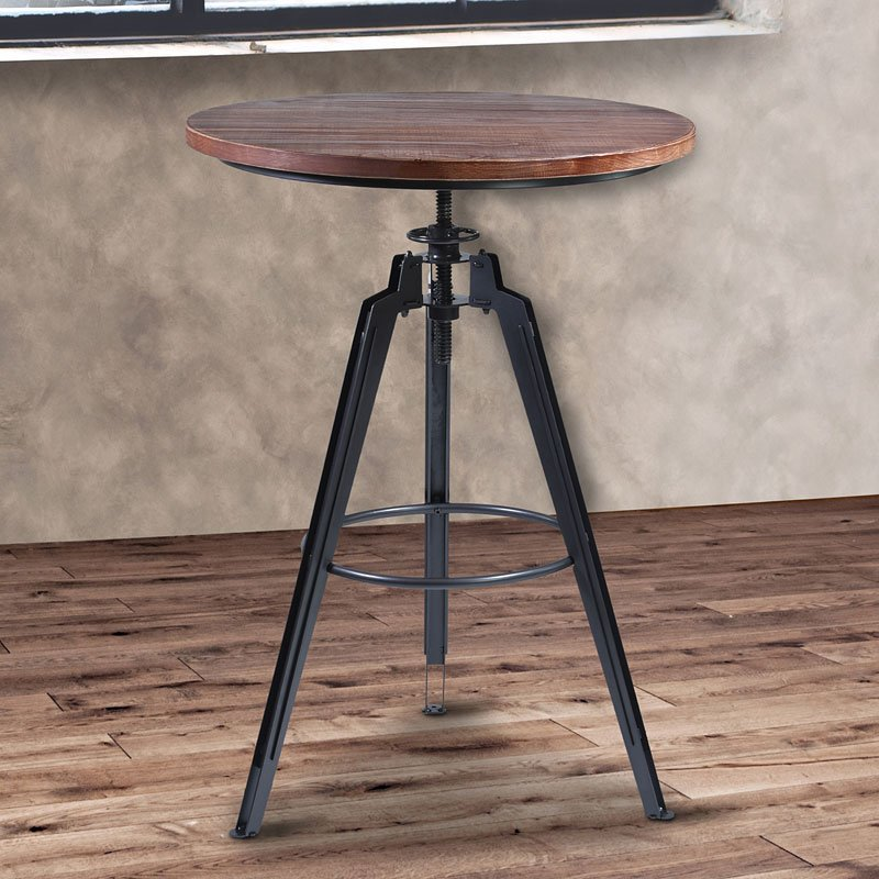 Tribeca Industrial Pub Table Set Home Bar And Game Room Furniture