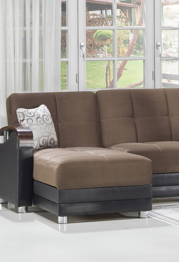 Luna Small Modular Sectional Naomi Brown By Istikbal Furniture