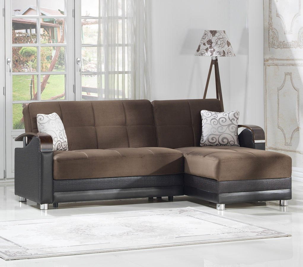 Luna Small Modular Sectional Naomi Brown By Istikbal