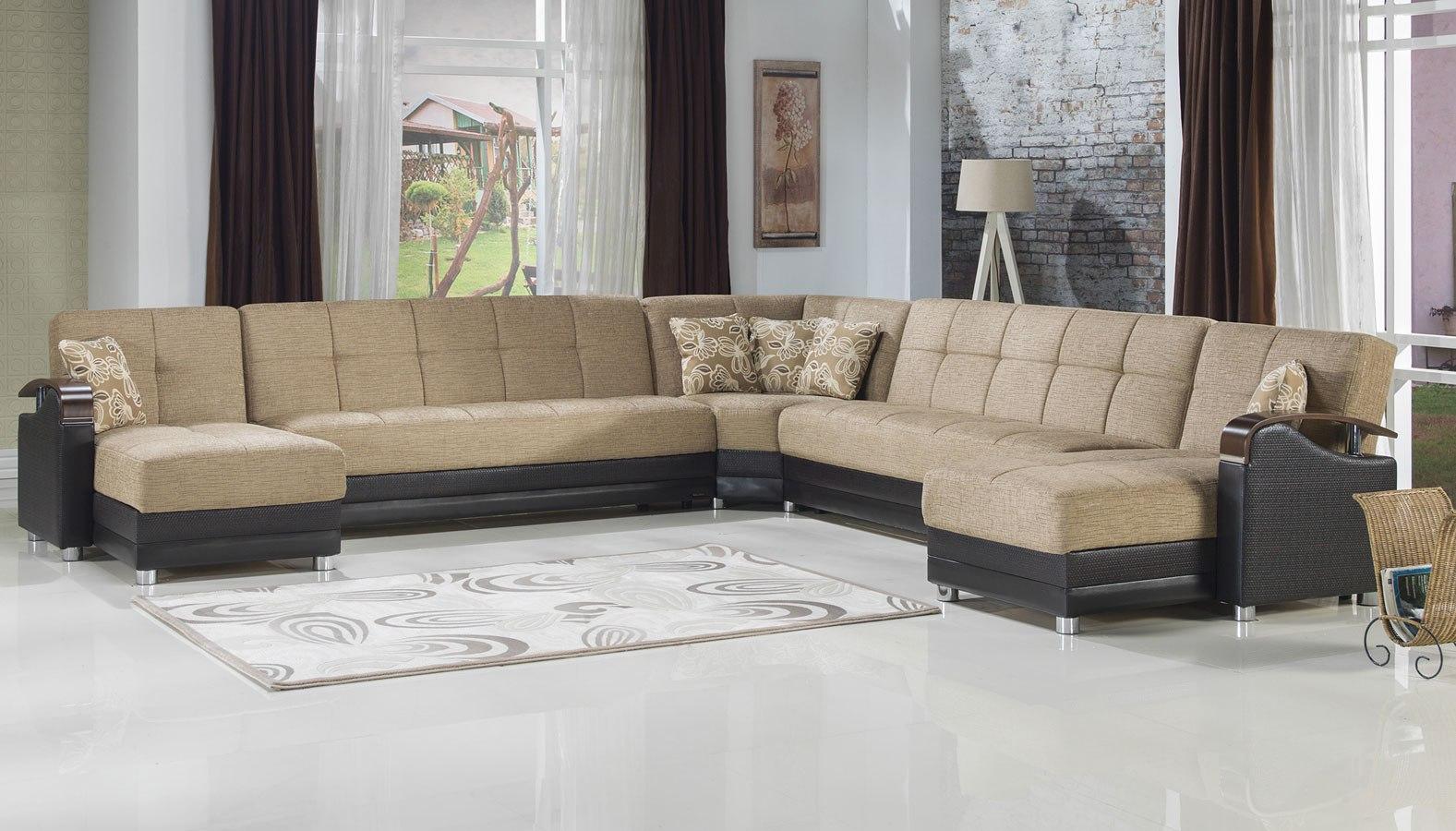 Luna Modular Sectional Fulya Brown By Istikbal Furniture