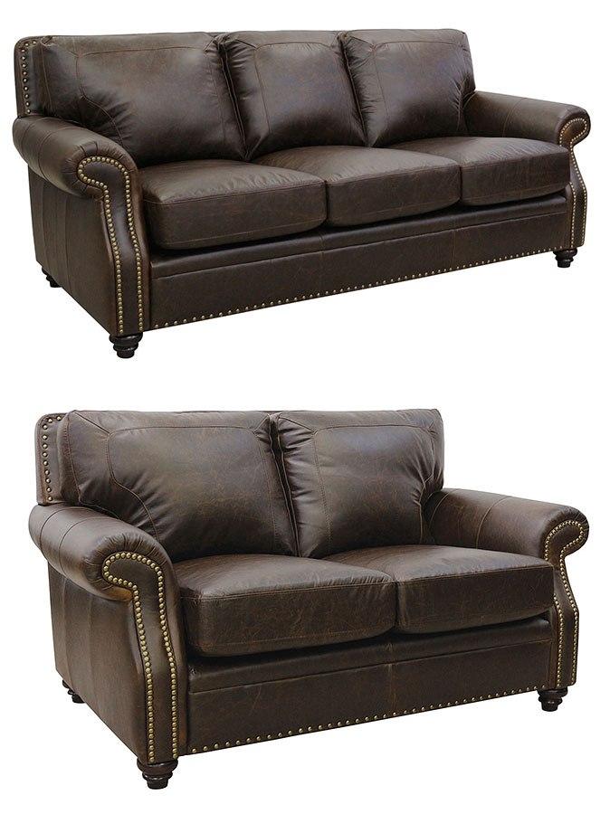 Mason Italian Leather Living Room Set By Luke Leather