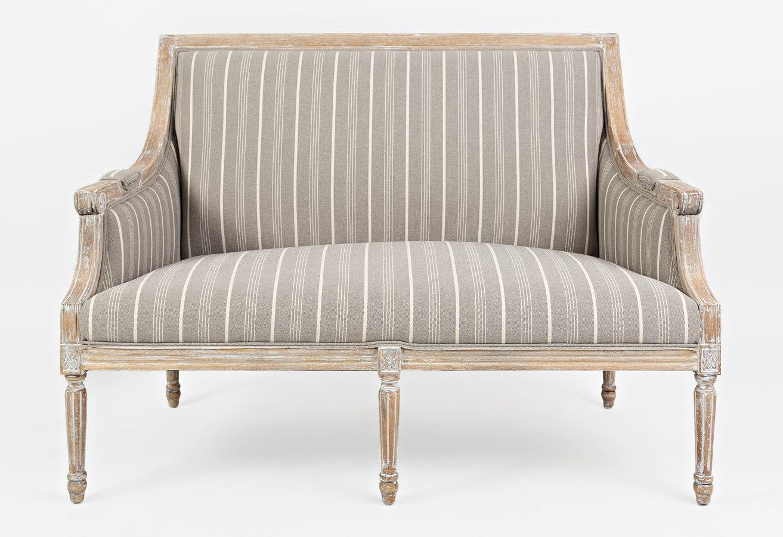 Mckenna Accent Loveseat Taupe By Jofran Furniture