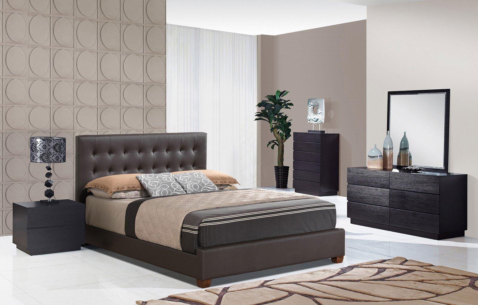 Metro bedroom set w 8101 upholstered bed by global furniture furniturepick for Standard furniture metro bedroom collection