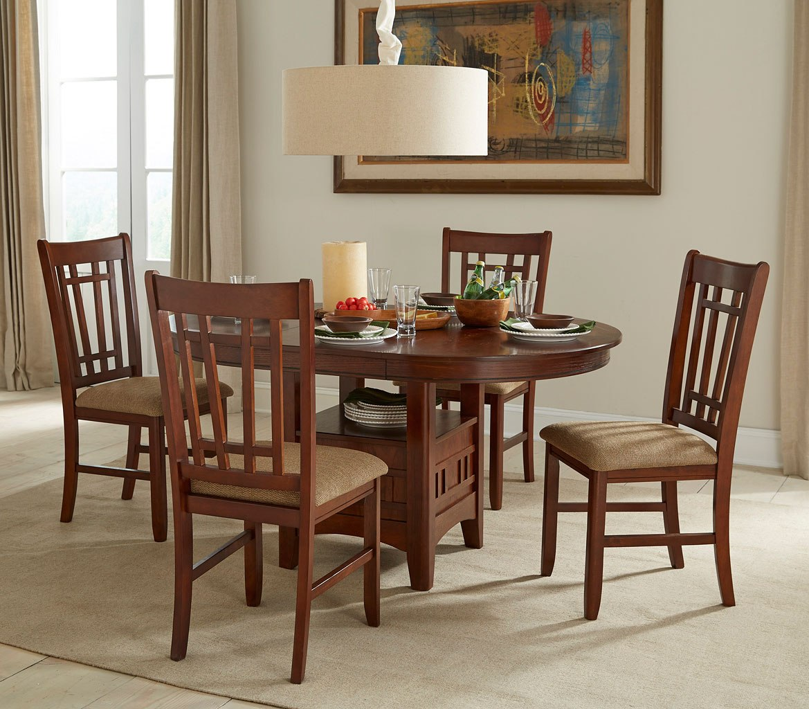 Dining Room Furniture Michigan: Mission Casual Round Dining Room Set By Intercon Furniture