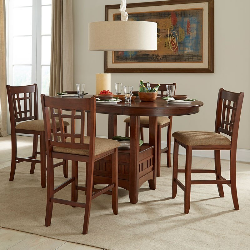 Dining Room Furniture Michigan: Mission Casual Gathering Dining Room Set By Intercon
