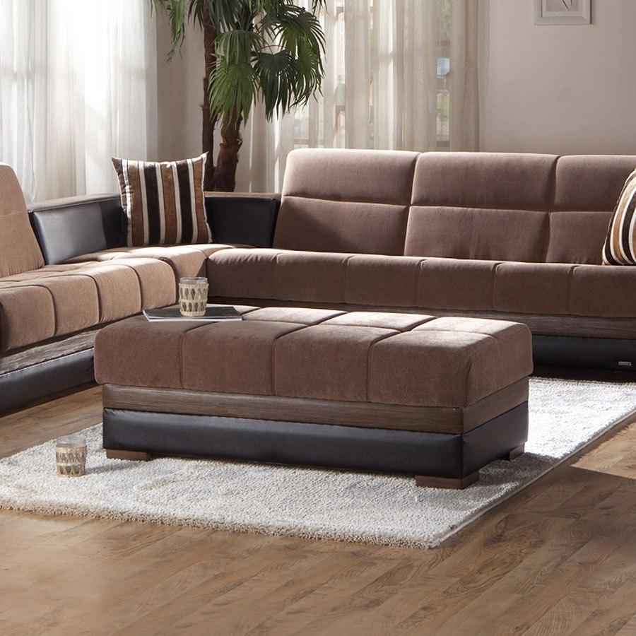 Moon Ottoman Troya Brown By Istikbal Furniture Furniturepick