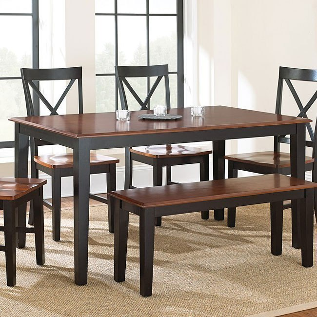 Kingston Dining Table Oak Black By Steve Silver Furniture Furniturepick