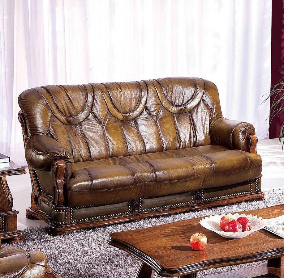 Oakman Italian Leather Sleeper Sofa By