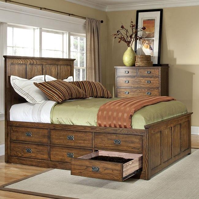Oak Park 12 Drawer Storage Bedroom Set