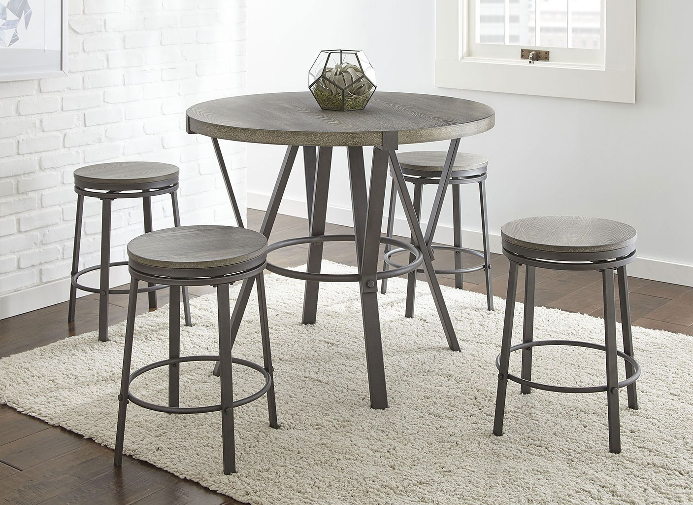 Surprising Portland Round Counter Height Dining Set Gmtry Best Dining Table And Chair Ideas Images Gmtryco