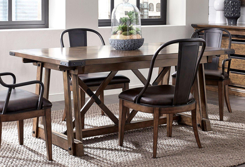Weston Loft Rectangular Dining Table by Pulaski Furniture ...