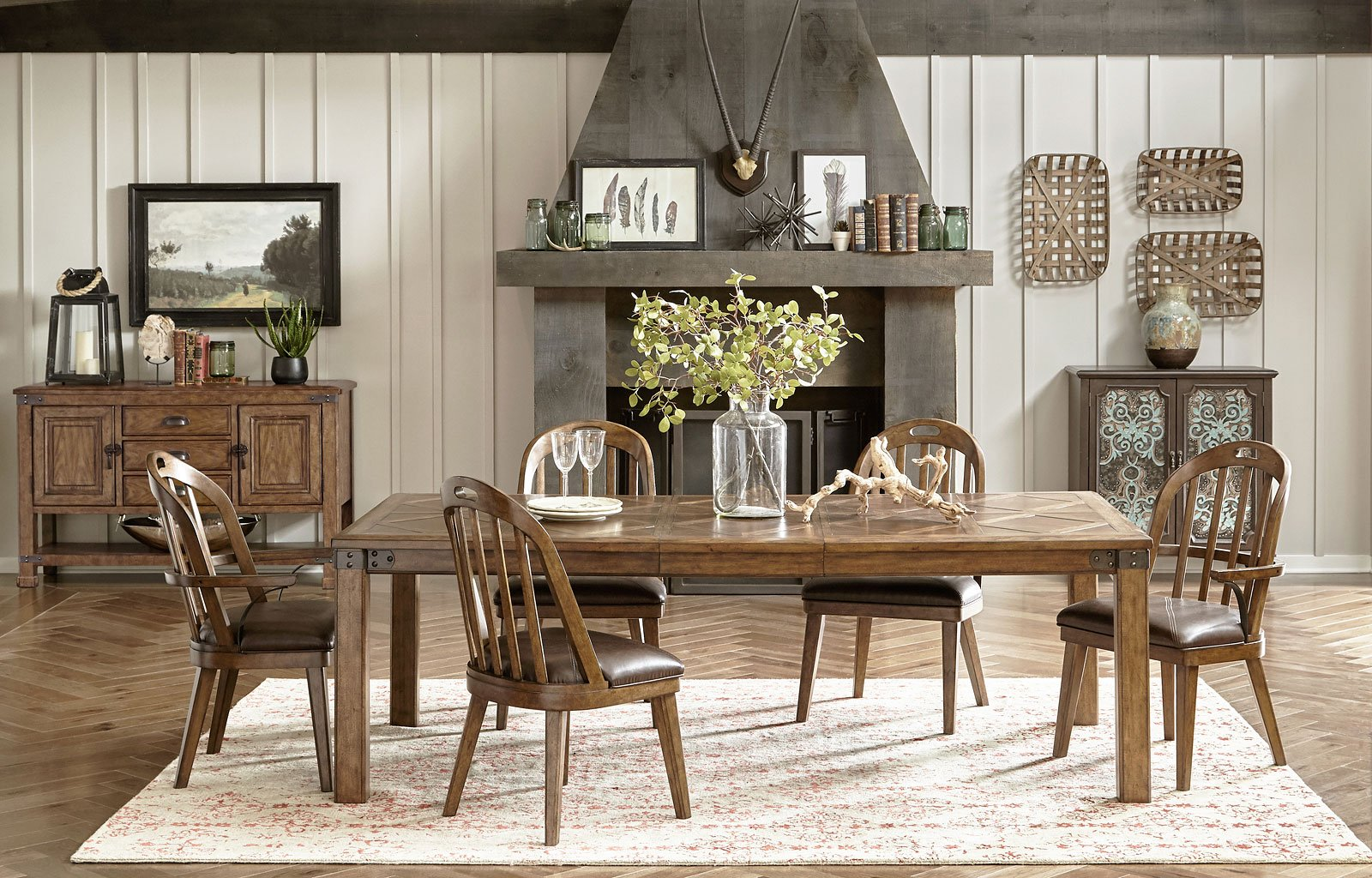 Heartland Falls Dining Room Set W Windsor Chairs Formal