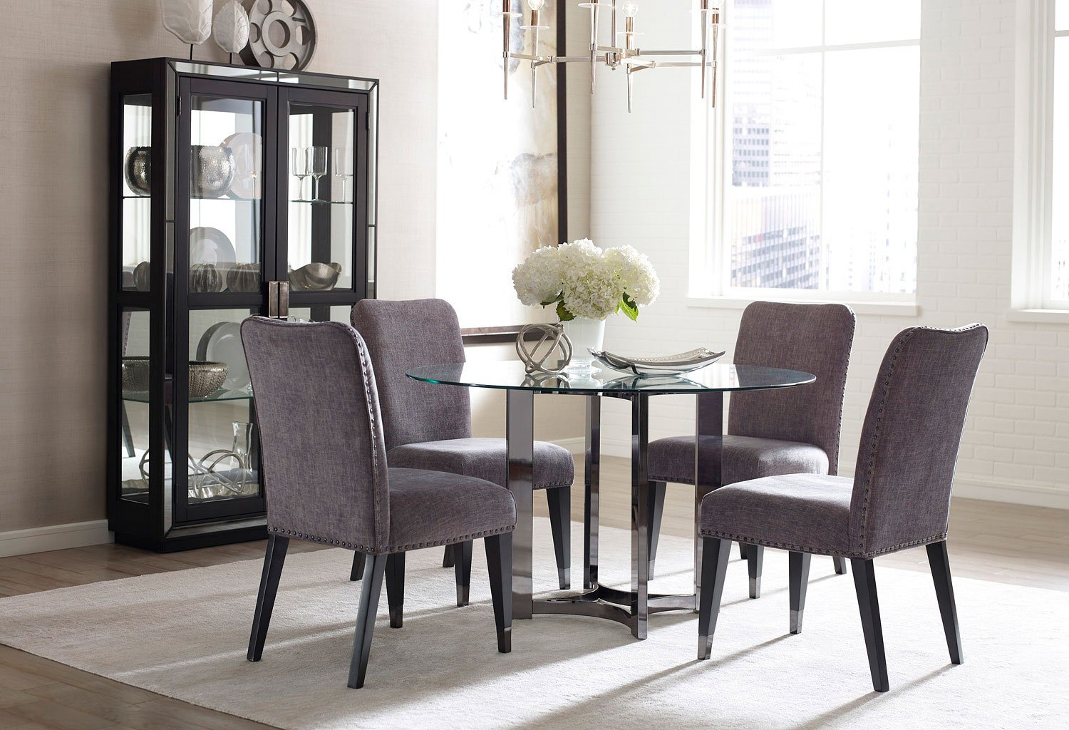 Silverton sound round dining room set casual dining sets dining room and kitchen furniture - Casual kitchen sets ...