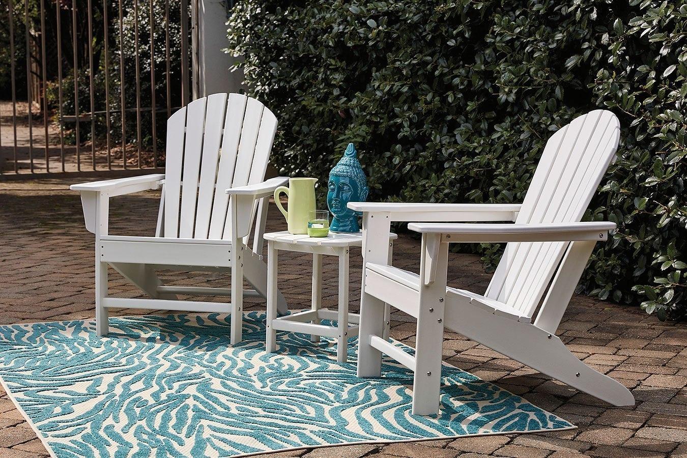 Sundown treasure outdoor seating set white by signature design by ashley furniturepick
