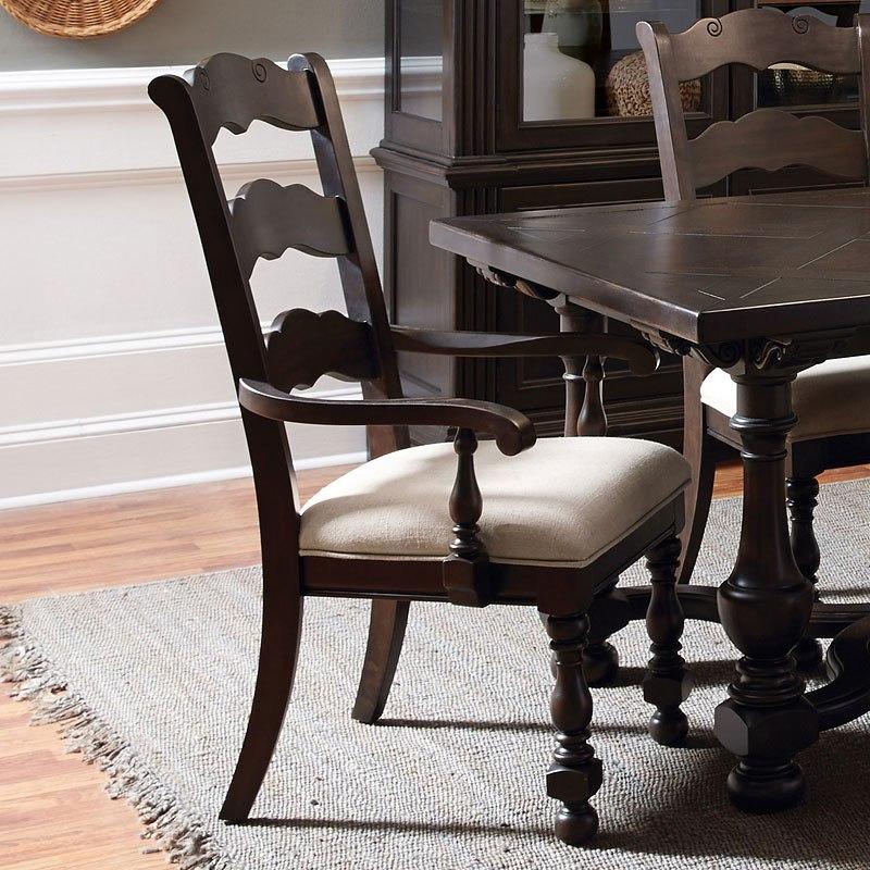 Caldwell Wood Back Arm Chair Set Of 2 By Pulaski Furniture