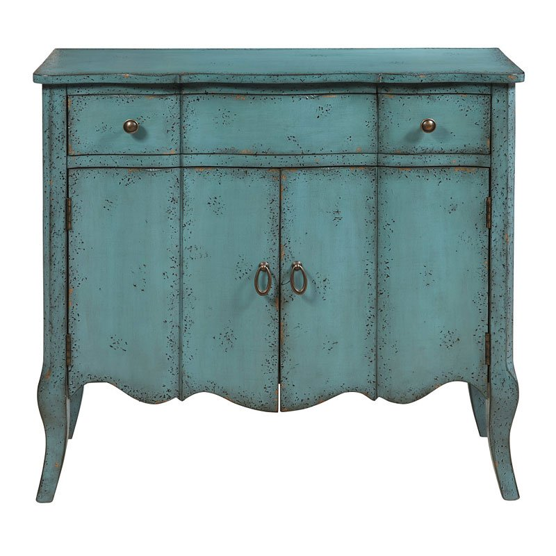 Distressed Turquoise Accent Chest Accent Chests And Cabinets Occasional And Accent Furniture