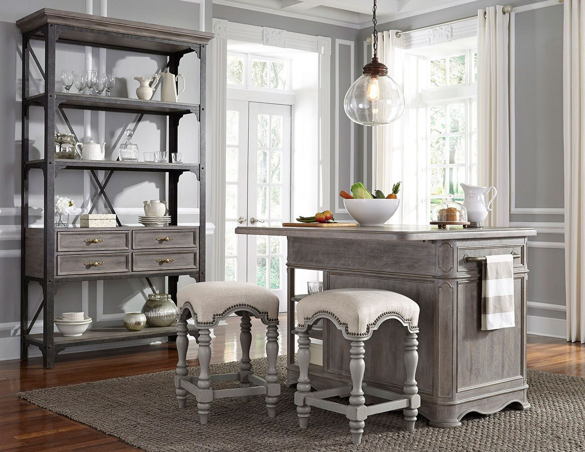 Simply Charming Kitchen Island Set