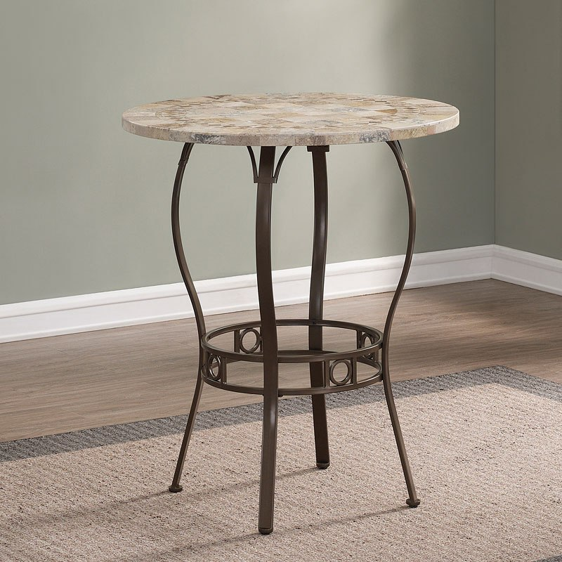 Marble Top Pub Table