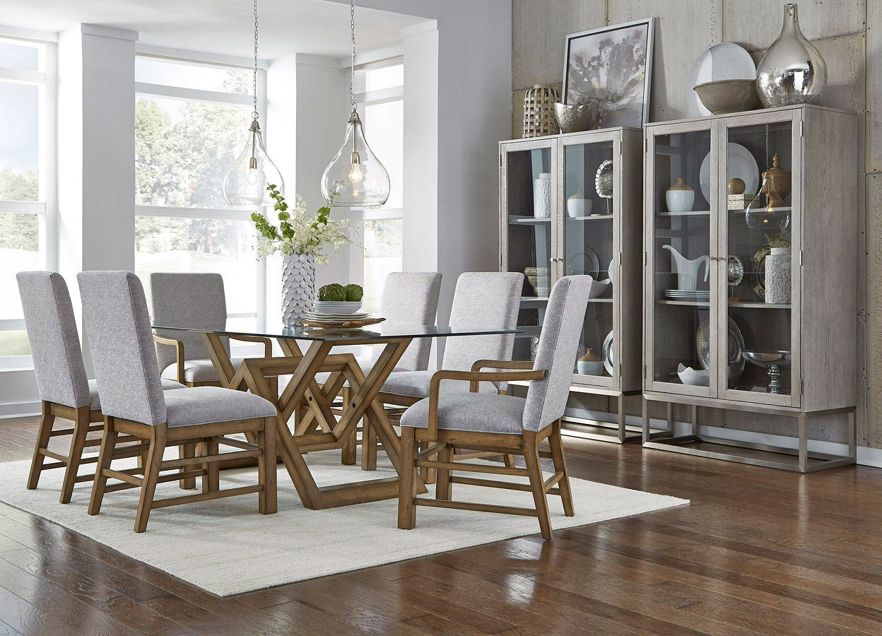 The Art of Dining Glass Top Dining Room Set