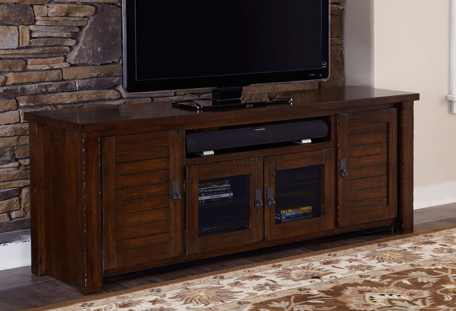 Trestlewood 74 inch tv console tv stands and tv consoles - Dresser as tv stand in living room ...