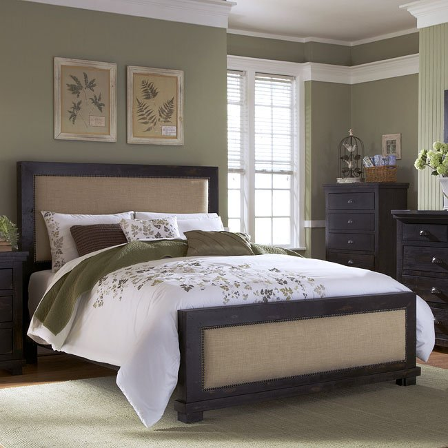 distressed black bedroom furniture western willow upholstered bed distressed black bedroom furniture