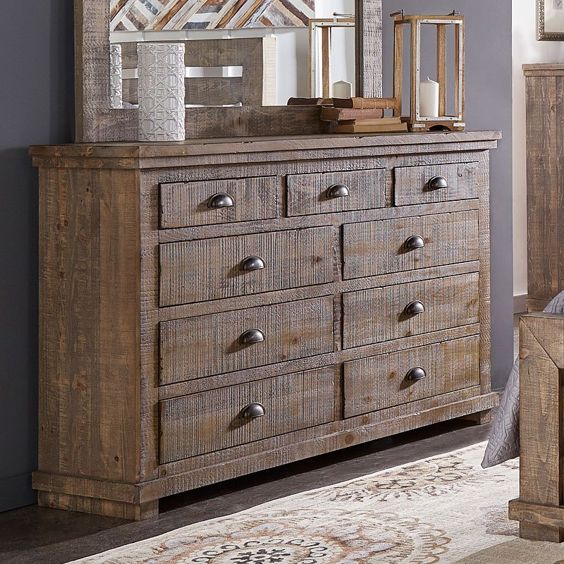 Willow Dresser Weathered Grey Dressers Bedroom
