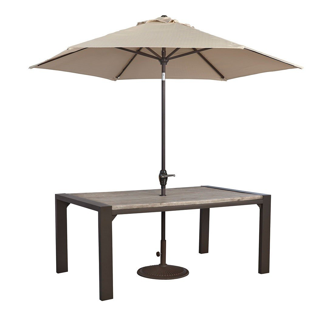 Peachstone Outdoor Dining Table w/ Umbrella by Signature ...