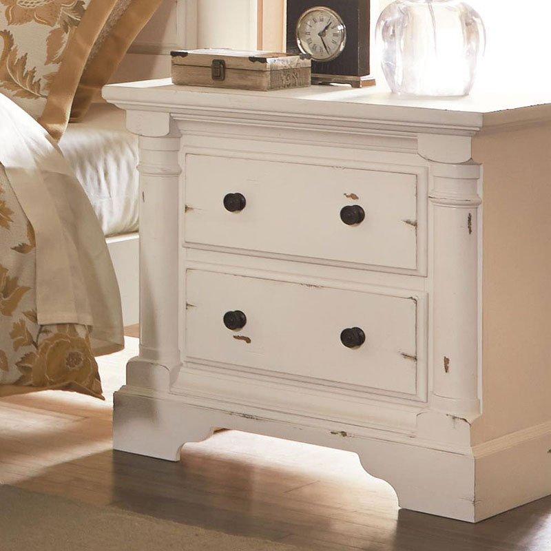 Gramercy Park Panel Bedroom Set Aged White Bedroom Furniture Bedroom