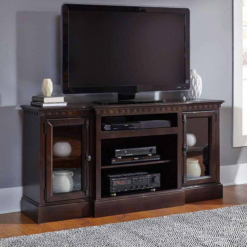 Andover Media Console: Andover Court 64 Inch Entertainment Console (Tobacco) By