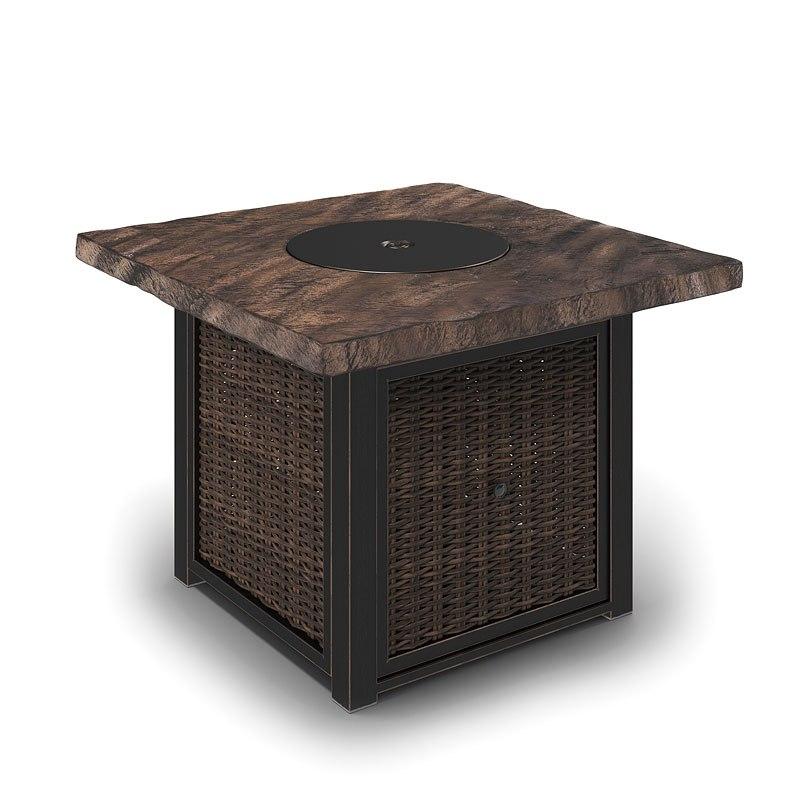 Alta Grande Outdoor Square Fire Pit Table By Signature Design Ashley Furniturepick